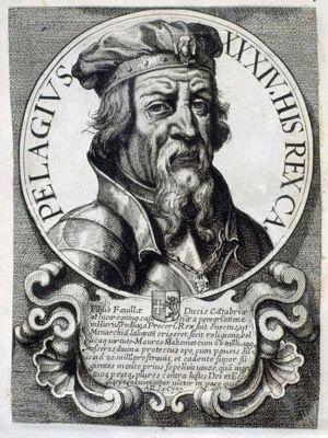 Gravure van DonPelayo 17de eeuw