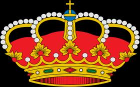 Heraldische voorstelling van de Spaanse koninklijke kroon.