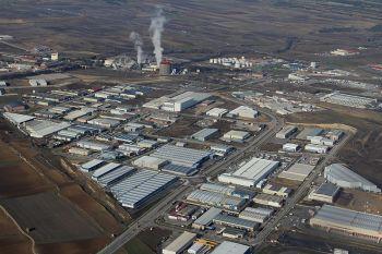 Industriegebied in de buurt van Miranda de Ebro