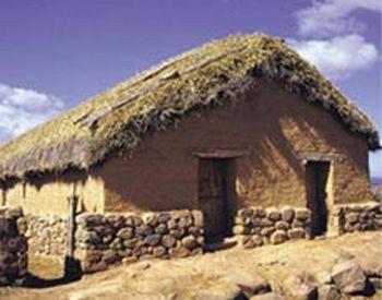Reconstructie van een Keltisch huis in Numancia