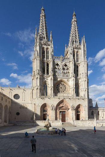 De kathedraal van Burgos, een van de vele kathedralen van Spanje.