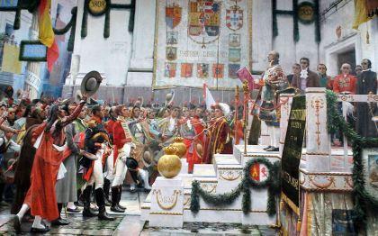 De afkondiging van de gronwet in 1812, werk van Salvador Viniegra (Museo de las Cortes de Cádiz)