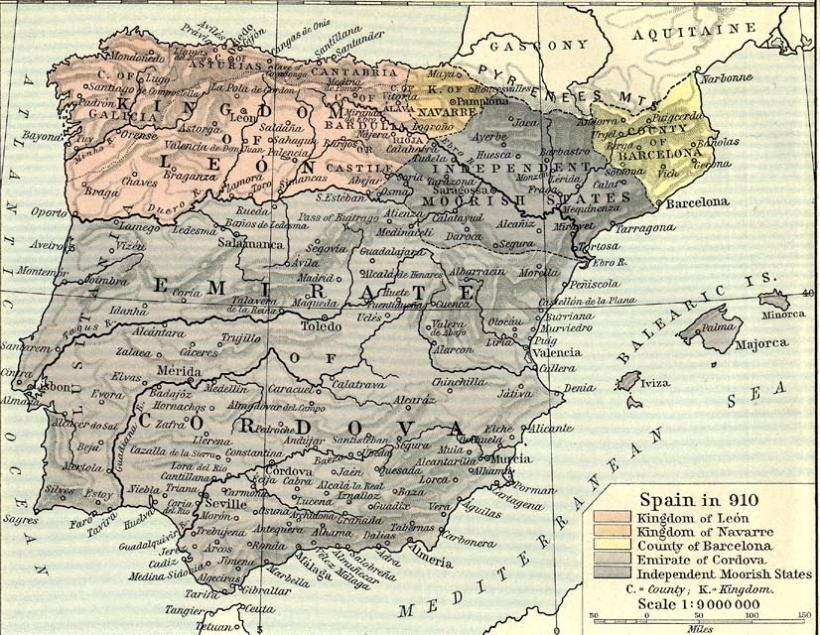 Het koninkrijk León in 910