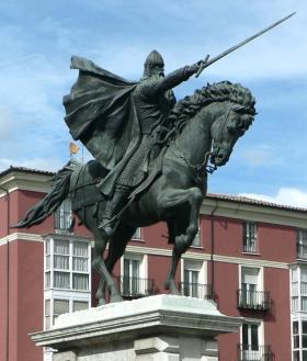 Standbeeld van El Cid, in Burgos