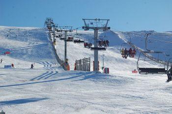 Het skigebied van La Covatilla. De Sierra de Bejar, een van de natste gebieden van Castilla y León, aan het Cantabrisch gebergte