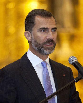 De koning Felipe VI van Spanje.