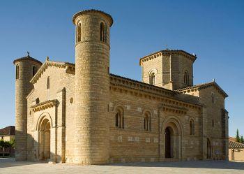 Kerk van San Martín de Frómista, vertegenwoordigd de Romaanse kunst in Palencia
