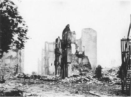 Het bombardement van Guernica gedurende de Burgeroorlog van Spanje.