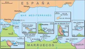 Territoriale gebieden in het noorden van Afrika.