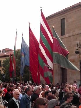 De parade van de vaandels is een van de meest markante gebeurtenissen van het festival van San Froilan in de provinciale hoofdstad.