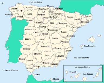 Provincies van Spanje