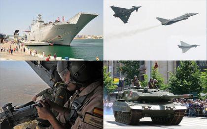 De Spaanse strijdmachten.