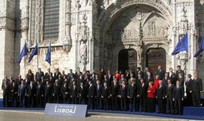 Plechtige ondertekening van het verdrag van Lissabon.