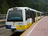 Trein de Feve op het station van Ablaña (Mieres)