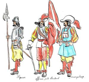 Los Tercios (een soort Mariniers) de beste militairen uit die tijd!