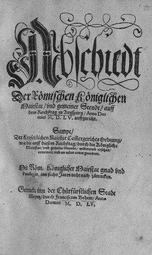 Het document van de Vrede van Augsburger