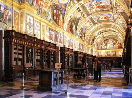 De bibliotheek van het Escorial