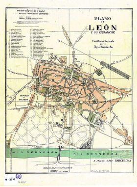 De kaart van León met de uitbreiding.