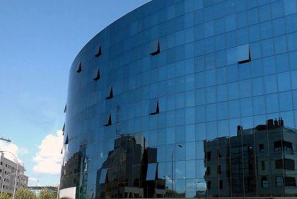 Het Europa gebouw, een van de opvallendste kantoorgebouwen van León.