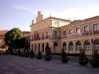 Het oude gemeentehuis op het Plaza San Marcelo.