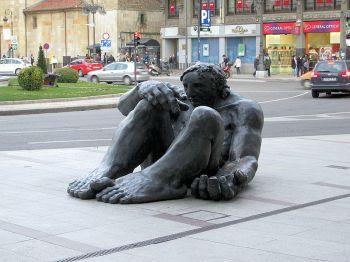 Spaanse Verhalen, León, plaza de Santo Domingo.