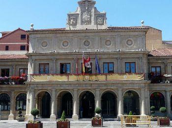 Het Casa Consistorial van León. Wat vroeger het gemeentehuis was.