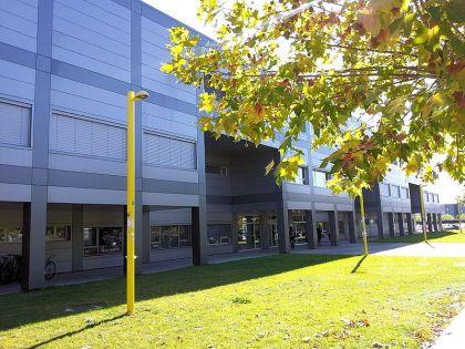Het gebouw van de supercomputer Caléndula, onderdeel van de Leonese Universiteit.
