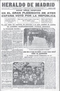 De Heraldo de Madrid van 13 april 1931