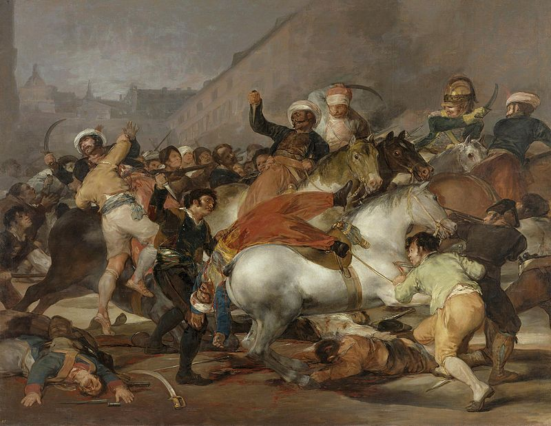 Goya's interpretatie van de 2 mei opstand.