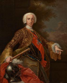 Portret van Carlos III (1759 - 1788), Monarch die tijdens zijn bewind probeerde de samenleving van Spanje te moderniseren.