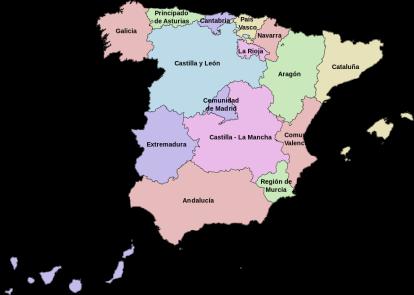 De Spaanse Comunidades autónomas, een van de verbeteringen met de ingang van de grondwet van 1978.