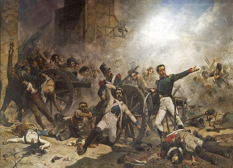 Defensie van het Artillerie park, Montteleon. Joaquin Sorolla.