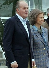 Koning Juan Carlos I met zijn echtgenote Sofia de Grecia.