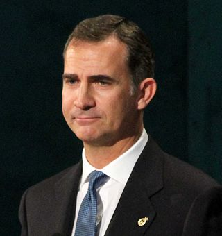 Felipe VI vanaf 2014 koning van Spanje.