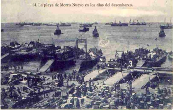 Landing van Alhucemas tijdens de Rif-oorlog.