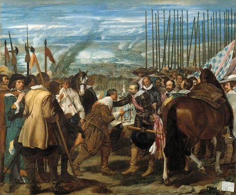 Overgave van Breda, het schilderij van Velásquez (1599 - 1660) wordt ook wel 'De Lanzen' genoemd.