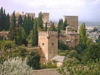 Een deel van het Alhambra, Granada