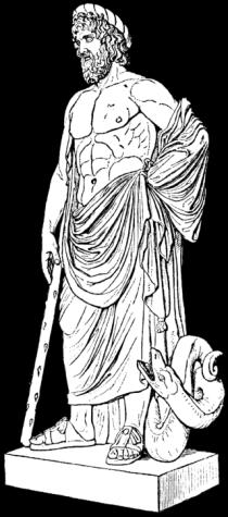 De Griekse god Asklepios