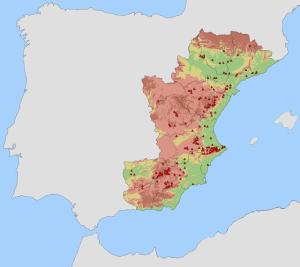 Rotsschilderingen op het oostelijke deel van het Iberisch schiereiland welke deel uitmaken van de culturele erfgoederen van het World Heritage