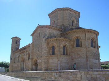 De kerk van San martín (Frómista) in de provincie van Palencia