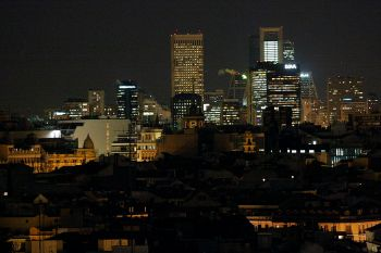 Stedelijk panorama van Madrid 2010.