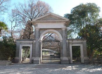 Puerta Real van de Jardin Botánico, een werk van Francesco Sabatini.