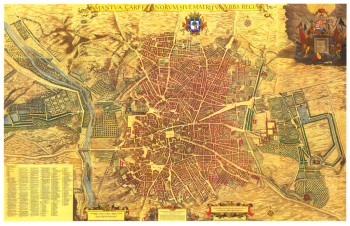 Madrid volgens het plan van Pedro Teideira (1656). De koninklijke stad Madrid, Mantua Carpetatorum.