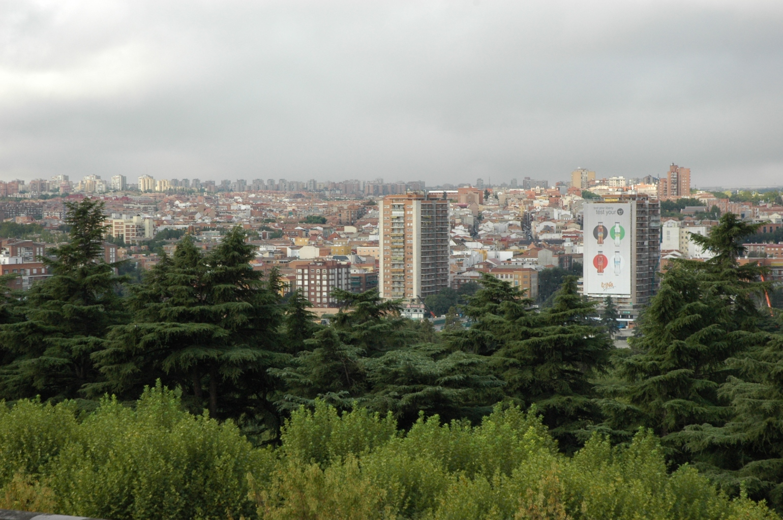 Uitzicht op de wijken Latina en Carabanchel.