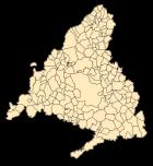 Kaart van alle gemeenten in de Comunidad de Madrid