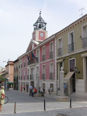 Het gemeentehuis van Aranjuez, de tweede grootste gemeente in de regio,na Madrid