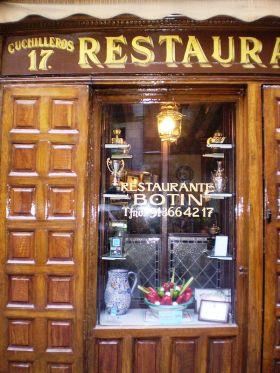 Casa Botín. Het oudste restaurant ter wereld, gesticht in 1725,