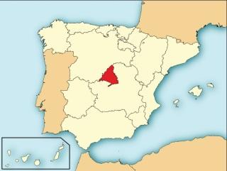 De lokatie van de Comunidad de Madrid