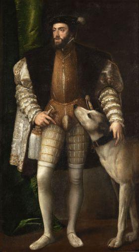 Carlos I (Karel V) geportretteerd door Titiaan (1532 - 1533)