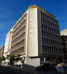 De Aldeasa gebouw, het hoofdkwartier (kantoorgebouw) van het museum.